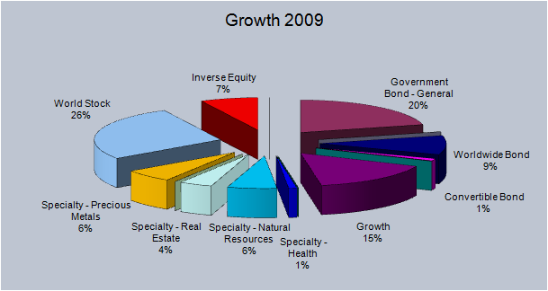 2009 Growth Pie